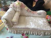 Vintage chaise lounge jewellery box