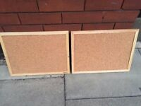 Pair of small cork pinboards excellent central London bargain