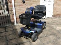 Apex Finesse mobility scooter deluxe with suspension hardley used nearly new