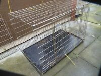 EXTRA LARGE DOG CAGE, WITH INNER STEEL TRAY, EXCELLENT CONDITION, BARGAIN £40 CAN DELIVER,