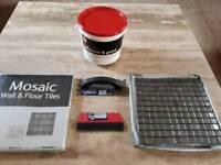 Mosaic Wall / Floor Tiles + Grout, Trowel & Spreader