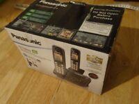 Panasonic Digital Cordless Answering System - 2 Handsets - In sealed box