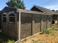 Pre-fabricated brick garage