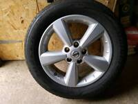 Nissan xtrail alloy and tyre