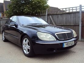 Mercedes W220 S500 Auto –5 Litre V8 302 BHP – Very Fast – LOW MILEAGE – Nice Clean example - £3,299