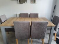 Next dining table and 6 next chairs
