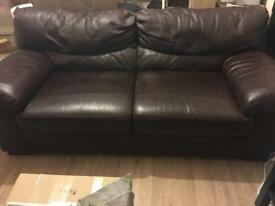 Brown leather sofa in excellent condition