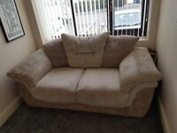 2 Seater Sofa and Arm Chair, great condition Hardly used lovely soft fabric, really comfy, luxurious