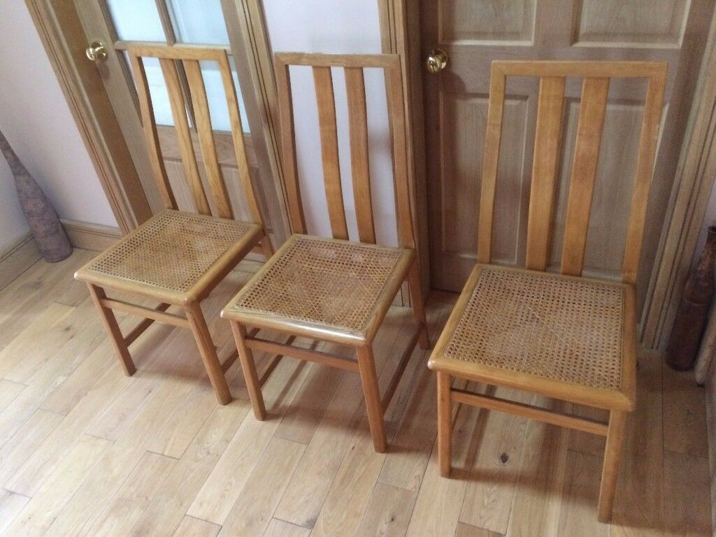 oak chairs x 3 NEWCASTLE BELFAST can deliver if required, kitchen dining room bedroom hall study