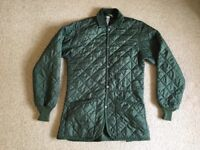Ladies Green Quilted Coat