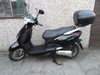 Honda Lead NHX110 WH-8 108 cc Motor Scooter. 2010 6777 mile. Full years MOT. 2 Owners since new