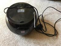 MAUVI CD BOOMBOX - BLACK - CD / FM & AM RADIO / AUDIO IN - MAINS OR BATTERY