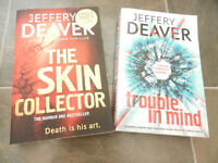 The Skin Collector and Trouble in Mind by Jeffery Deaver