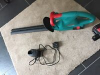 BOSH cordless hedge trimmer
