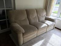 Reclinable cream sofa- good quality