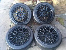 "Mitsubishi Evo 6/7 Alloy Wheels 17"""