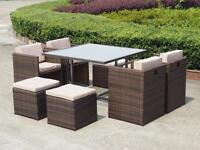 8 Pc Brand New Rattan Set Without Table Including Delivery Still In Box