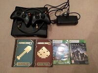 Xbox 360 - 250gb with 2 wireless controllers + games