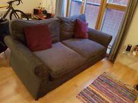 2 seater charcoal grey sofa