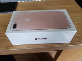 Brand new. Unopened. Iphone 7 plus rose gold. 32gb . EE network.