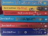 6 X David Walliams books