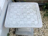 Beautiful Stone Chess Board Table - Great Addition to the Garden. £50 reduced! Will last decades.