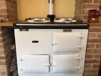 Aga Deluxe 2 Oven Solid Fuel White Enamel