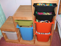 TROFAST TOYBOX PLAYROOM ORGANISER WITH BOXES
