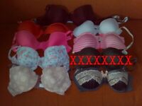 Brand New with Tags Bras x 8. All 34B