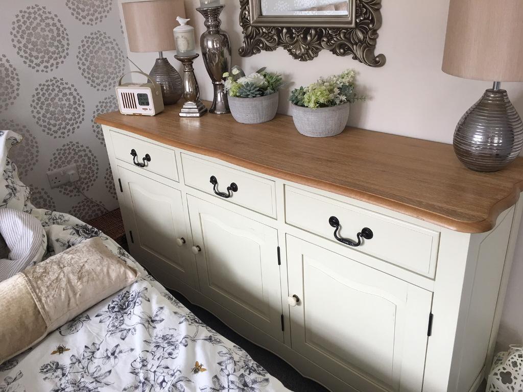 Oak furniture land cream sideboard dresser bella range