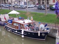 42' motorcruiser, moored in Narbonne, France.