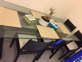 Dwell Designer Dining table and 6 Chairs
