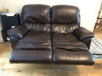 Leather recliner 3 and 2 lazy boy