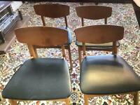 Dining room table & chairs / fold down leaf table / mint / condition