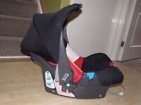 Britax(Babystyle/Romer)BABY-SAFE PLUS SHR Car Seat Group 0/BIRTH-13KG,Black&Red