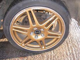 "Subaru Impreza 17"" Alloy Wheels & Tyres Prodrive 5x100"