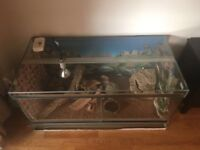 Large glass reptile tank, in excellent condition, only 9 months old