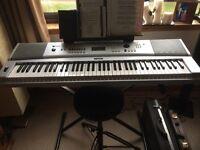 Yamaha DGX-230 Keyboard Bundle, 76 Keys - Includes Keyboard Stand, and Power Supply