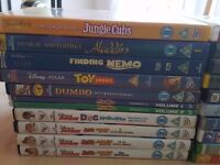 31 original kids dvds. A mix of Walt Disney, Dreamworks and kids shows IE Peppa Pig etc