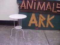 Metal round table indoor or outdoor use Delivery Available £7.50