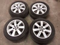 "2009-2014 MK5 VW POLO 15"" ALLOYS ALLOY WHEELS WITH TYRES 185/60/R15"
