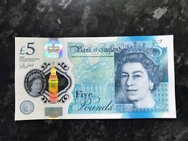 3X NEW £5 NOTES SEQUENCED AA34 RARE