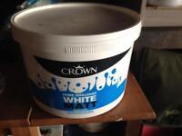 10 Litres Crown Brilliant White Matt Emulsion