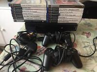 PS2 console and 14 games