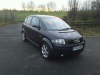 AUDI A2 1.6 FSI SE. 2003, ONE FAMILY OWNED FROM NEW. 110,453 MILES, SERVICE HISTORY.