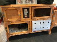 Double wooden Animal hutch