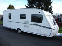 *ABBEY VOGUE 495,4 BERTH FIXED BED CARAVAN SUPERB THROUGHOUT *
