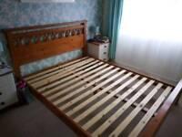 King Size Pine Bed + Mattress