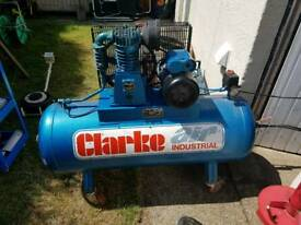 Clarke Air Compressors 14cfm Single Phase Cast Iron