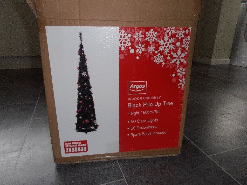 Black Pop Up Christmas Tree